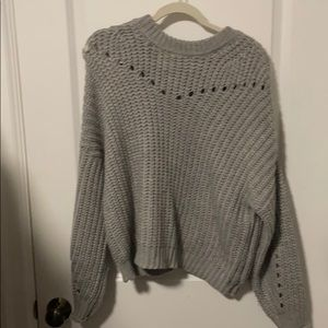 Gray comfy sweater